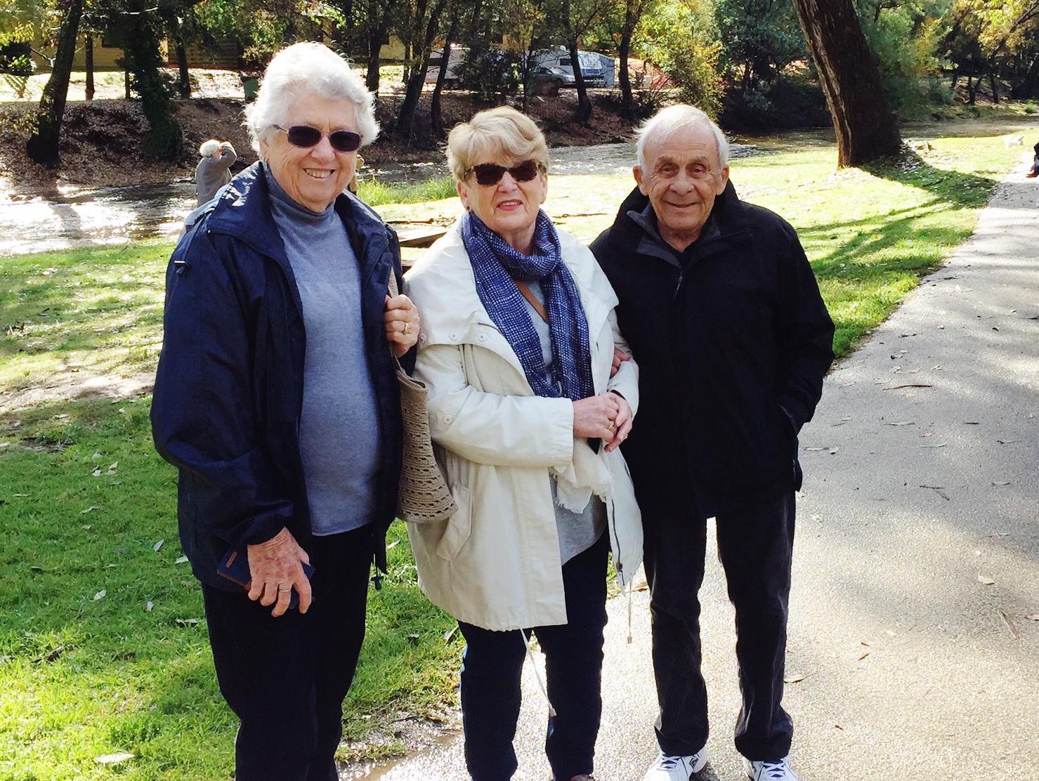 Marie Riley, Yvonne and Tony Kelly