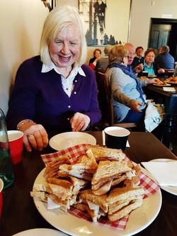Denise Lawrence at Morning Tea