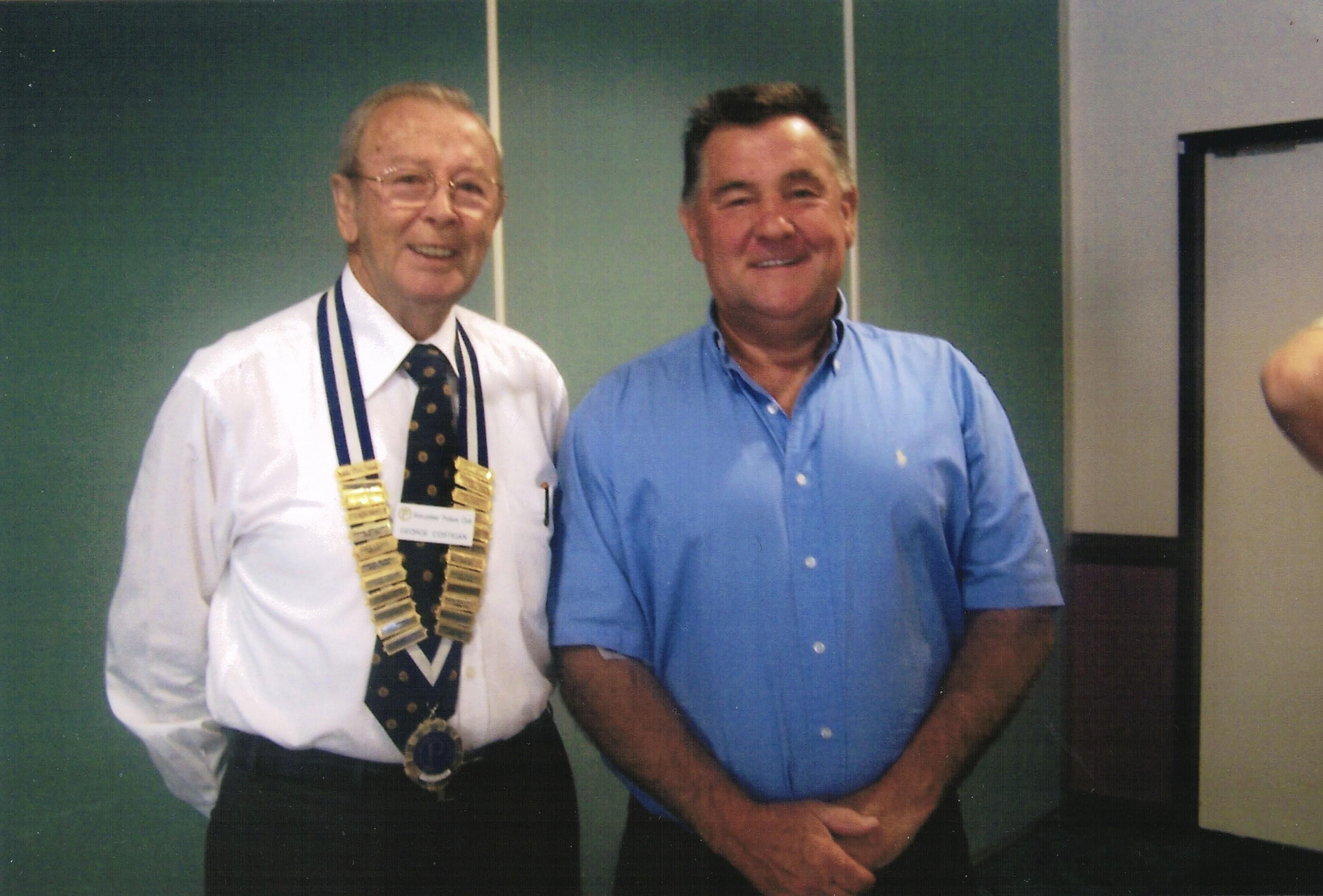 2008 Meetings New Member Roy Bird with P