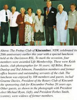 2004 Activities 20th Anniversary Luncheo