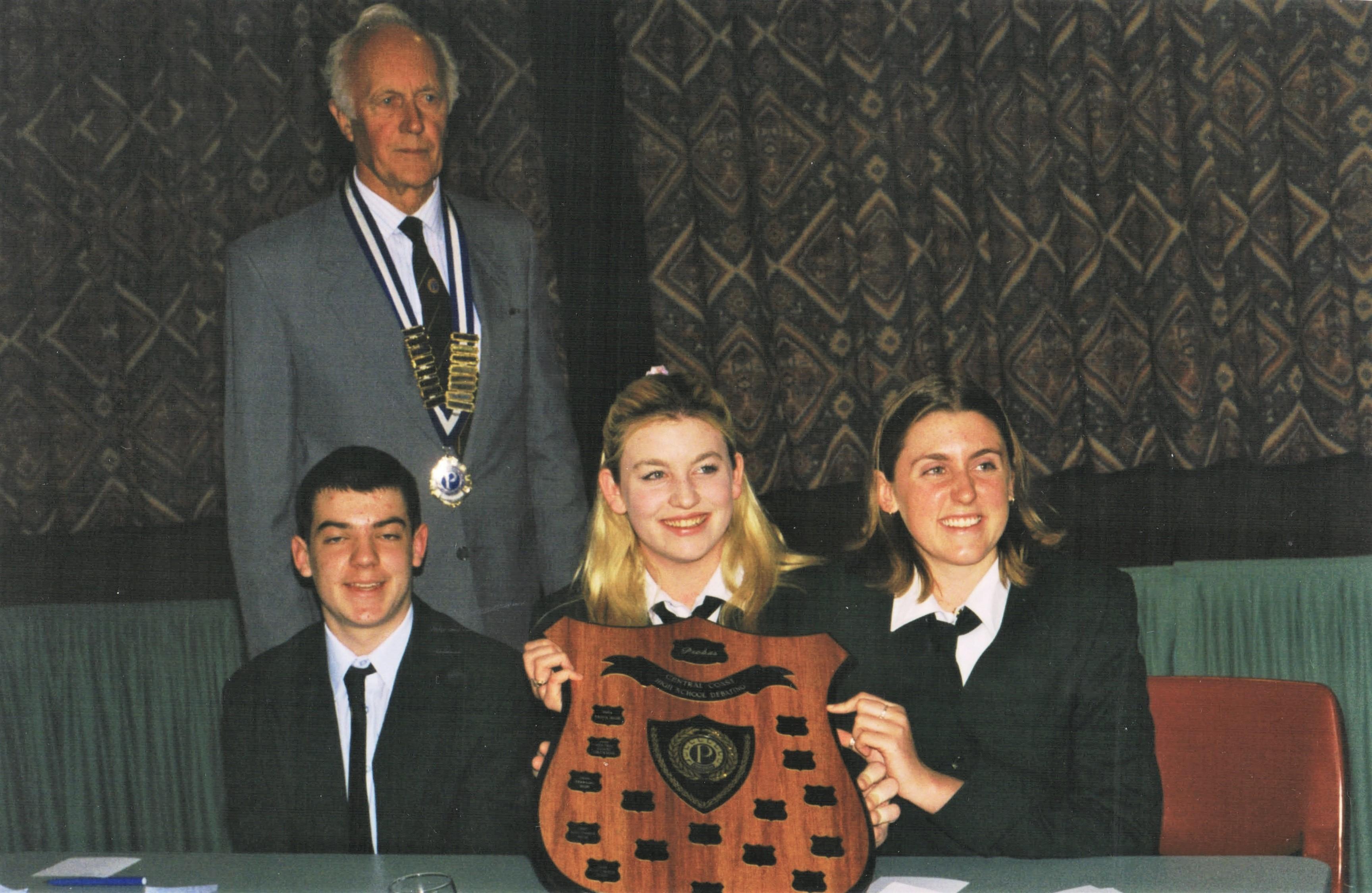 1999 Activities Debate winners Erina Hig