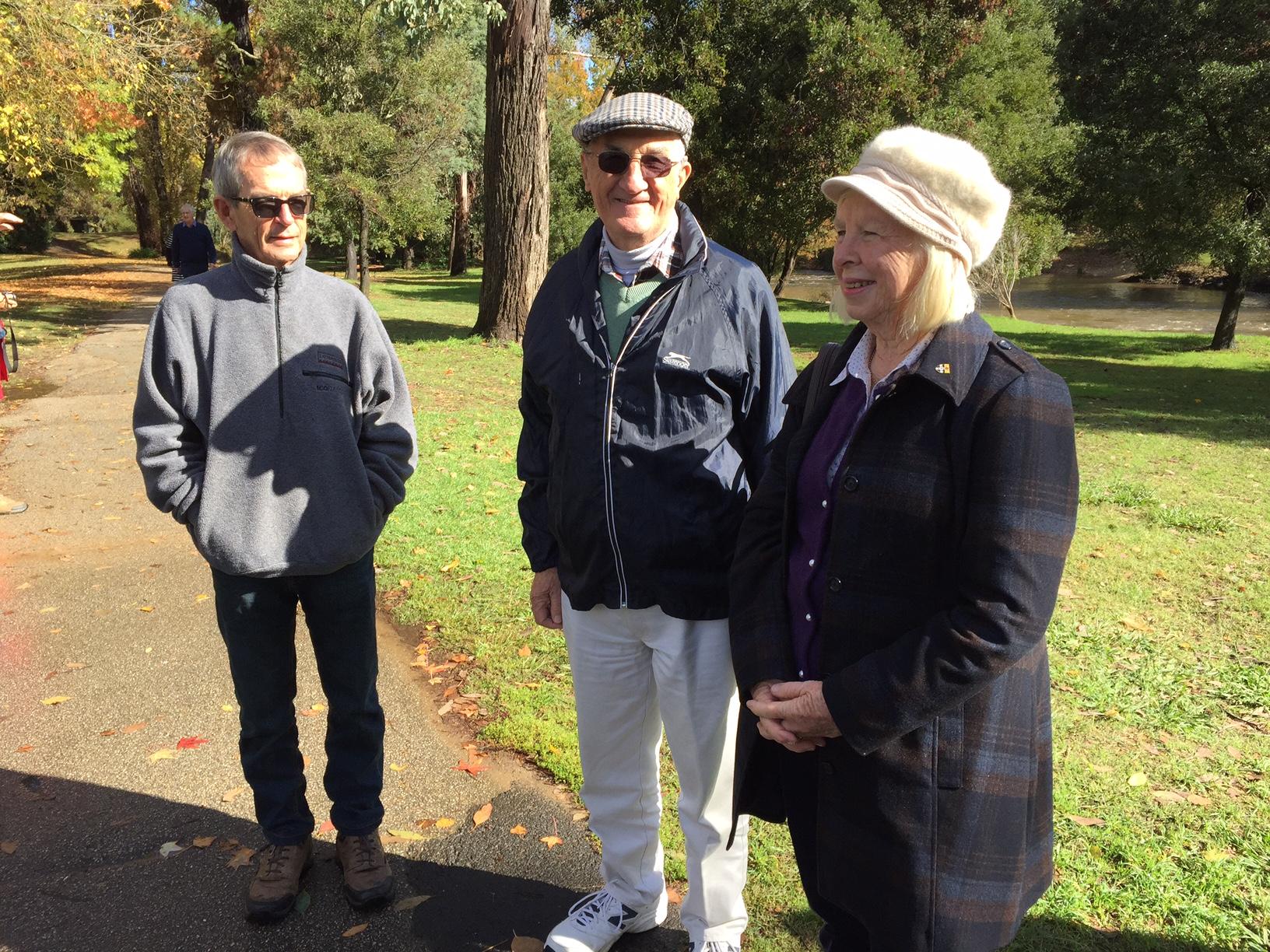 John Rudd, Barry Riley, Denise Lawrence.