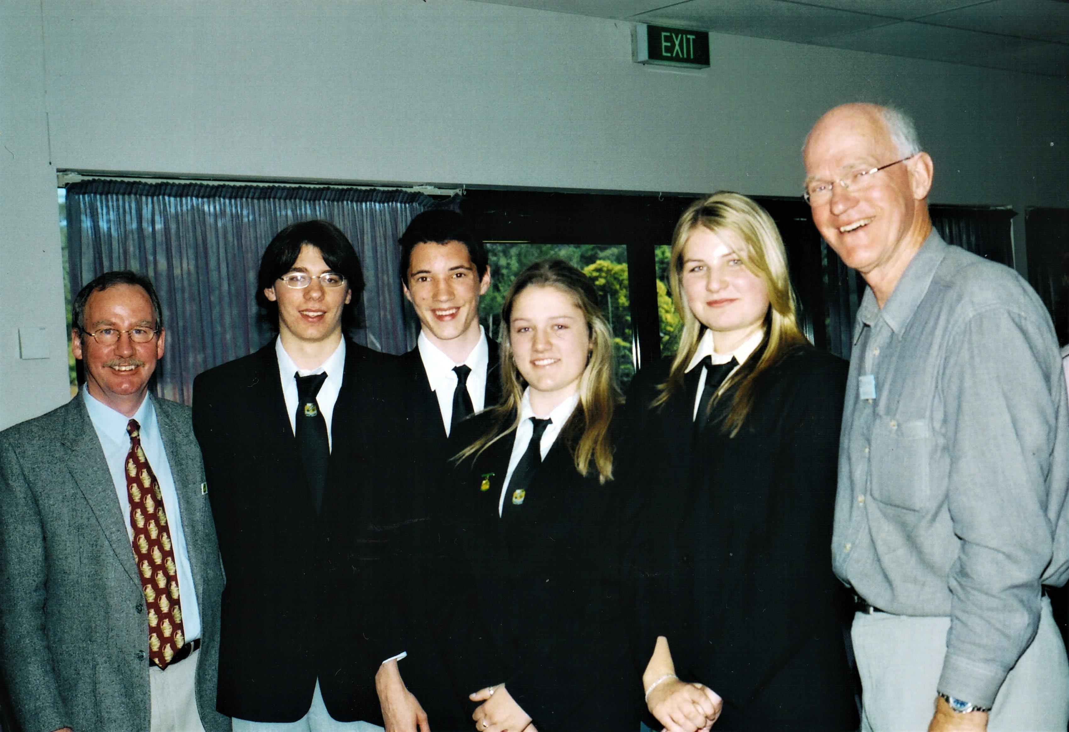 2003 Activities Debate winners Erina Hig