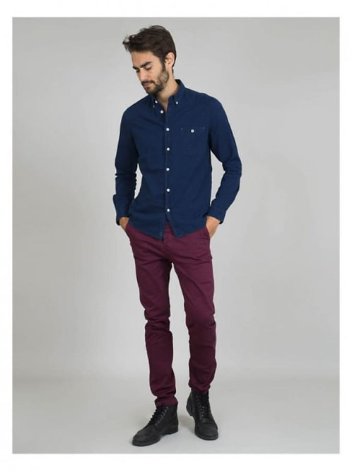 Cuisse de Grenouille Burgundy Chino Trousers