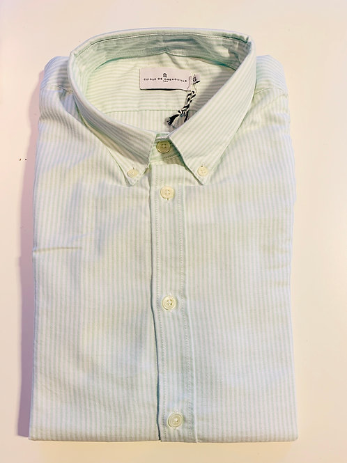 Cuisse de Grenouille Green and White Oxford shirt