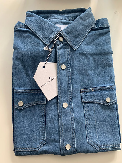 Cuisse de Grenouille denim shirt