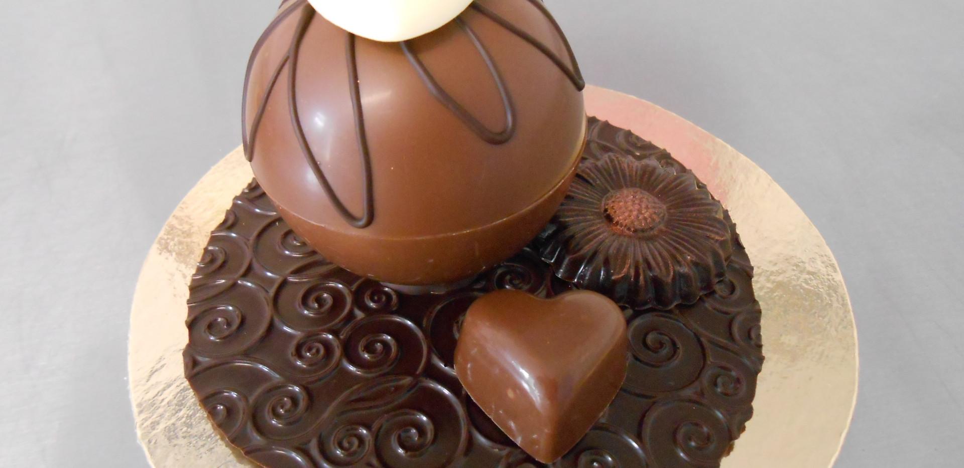 boule chocolat garnie