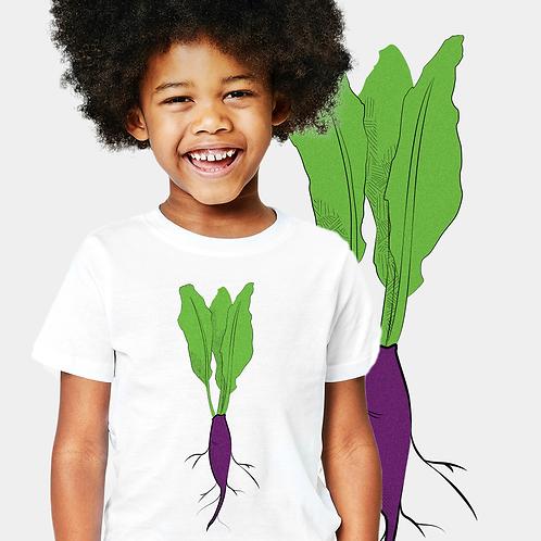 Camiseta infantil - Beterraba 3b