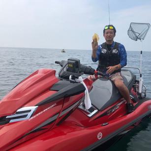 ジェット釣り海上写真