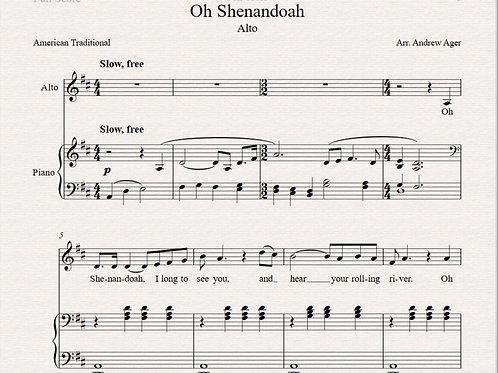 Oh Shenandoah -alto