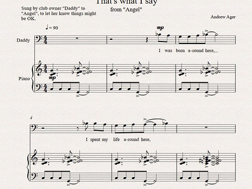 """That's what I say"" - from ""Angel"" - baritone/pno"