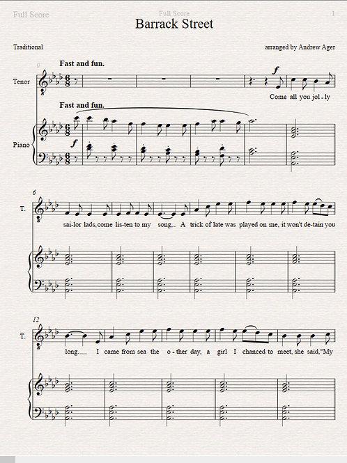 Barrack Street - tenor/piano