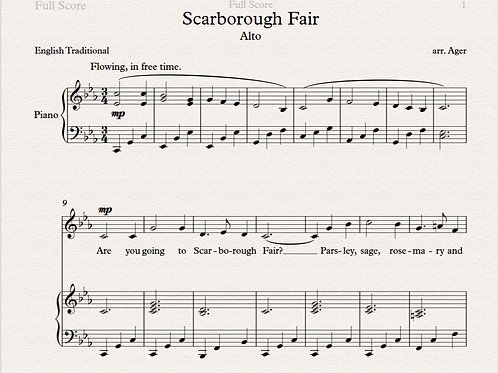 Scarborough Fair -alto