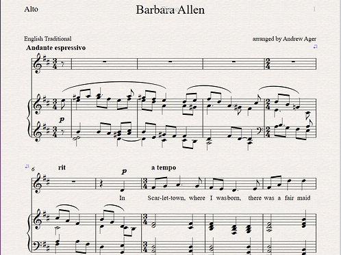 Barbara Allen - alto/piano