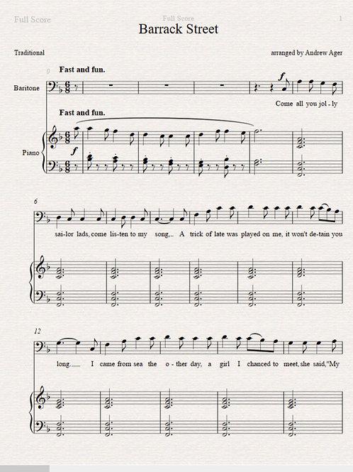 Barrack Street - baritone/piano
