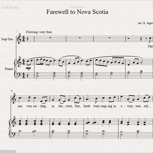 Farewell to Nova Scotia - High Voice