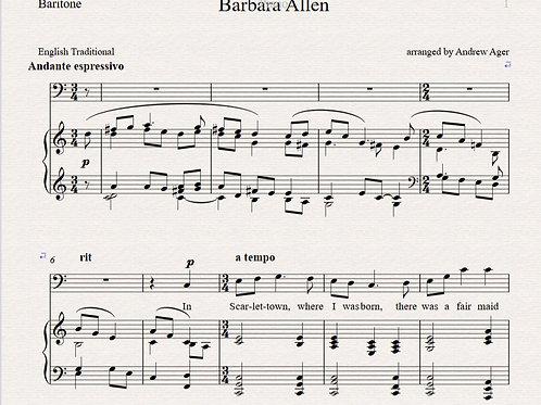 Barbara Allen - baritone/piano