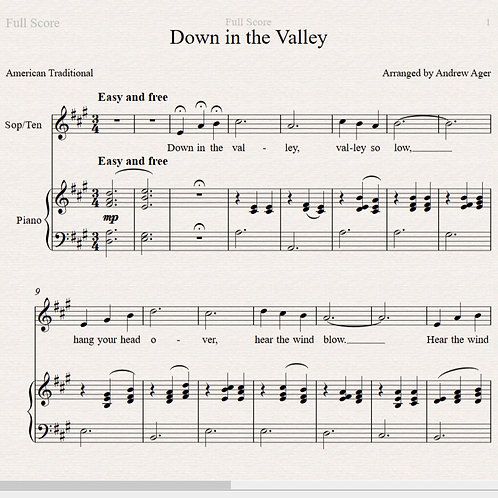 Down in the Valley - sop/ten