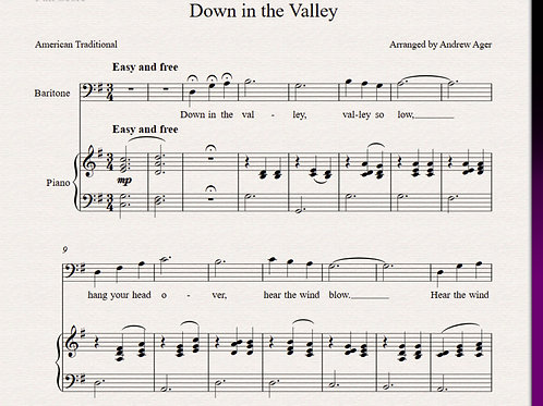 Down in the Valley -baritone