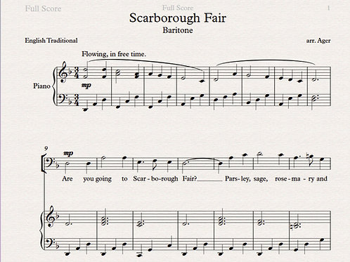 Scarborough Fair -baritone