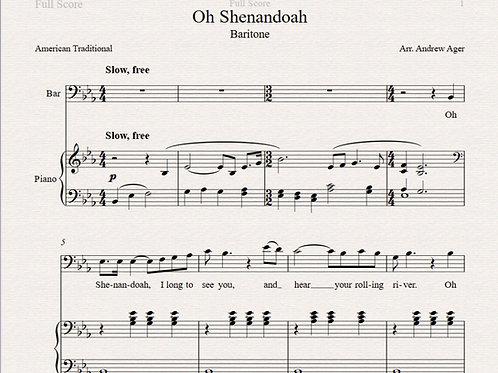 Oh Shenandoah -baritone