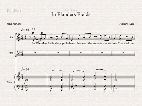 In Flanders Fields SATB