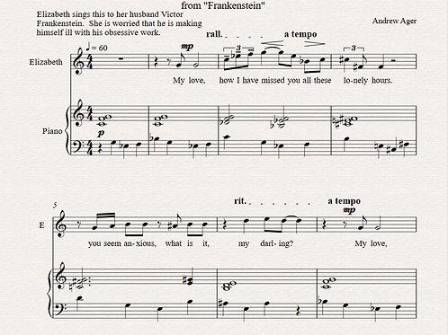 """""""My Love"""" - Elizabeth's aria from """"Frankenstein"""""""