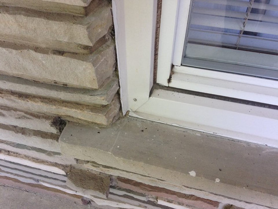 Some windows have capping and no caulking. Some clients wanted to correct that.