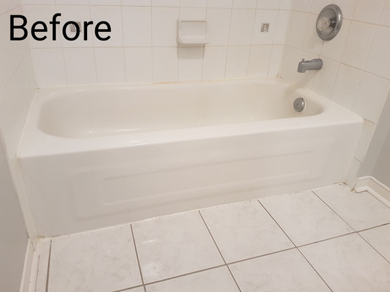 Bathtub, toilet, vanities and baseboards. Matching colors makes it look great and it last longer tha