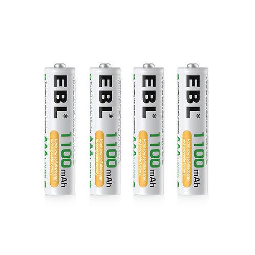EBL1100 mAh AAA Battery - 4 Pack