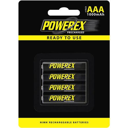 POWEREX  1000 mAh AAA Battery -4 Pack