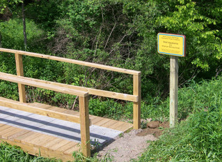 North Country Trail Bridges, Signage Completed   With funds provided by Shell Appalachia and the Ame
