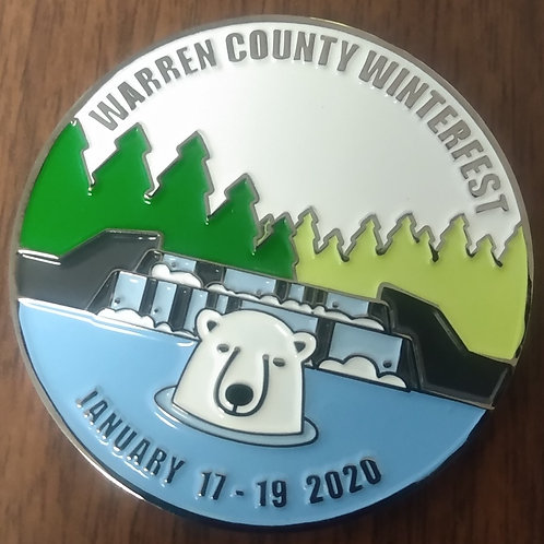 2020 Warren Winterfest Trackable Geo-Coin