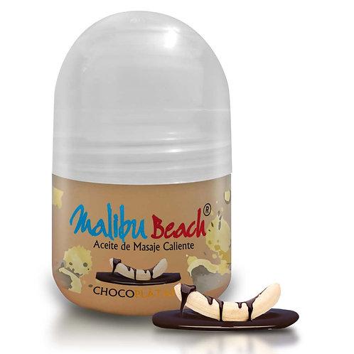 Aceite Caliente para Masajes MalibuBeach Hot de Choco Banana 30 g