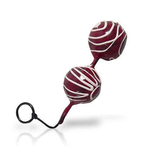 Bolas Chinas Dobles Vibrantes de 3.5 cm Silicón [Rojo]