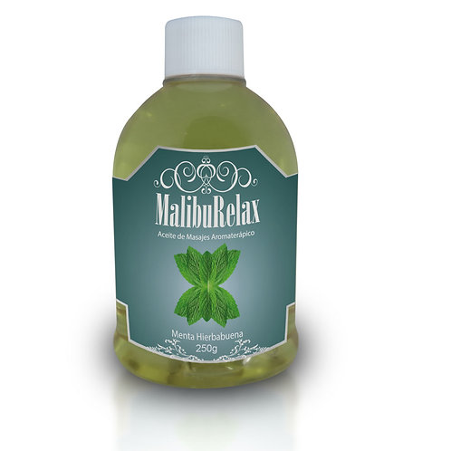 Aceite para Masajes Aromaterápico MalibuRelax Aroma Menta Hierbabuena 250 g