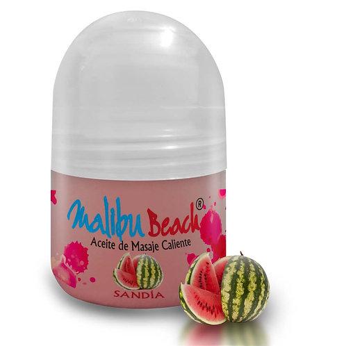 Aceite Caliente para Masajes MalibuBeach Hot de Sandía 30 g