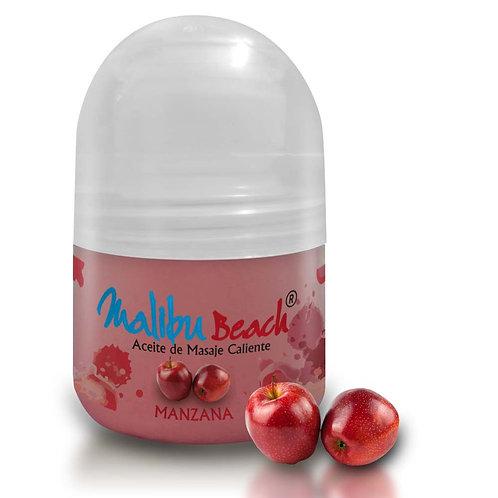 Aceite Caliente para Masajes MalibuBeach Hot de Manzana 30 g