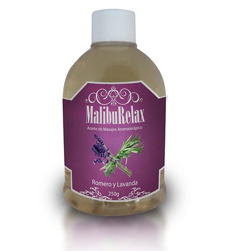 Aceite para Masajes Aromaterápico MalibuRelax Aroma Romero y Lavanda 250 g