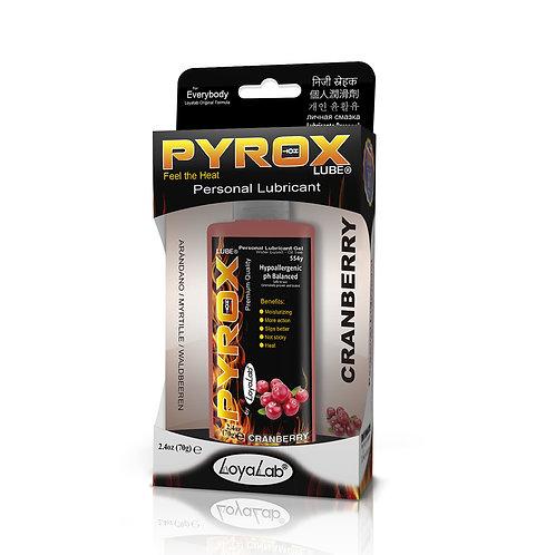 Gel Lubricante Intimo Efecto Calor, Pyrox Lube de Arándano 70 g