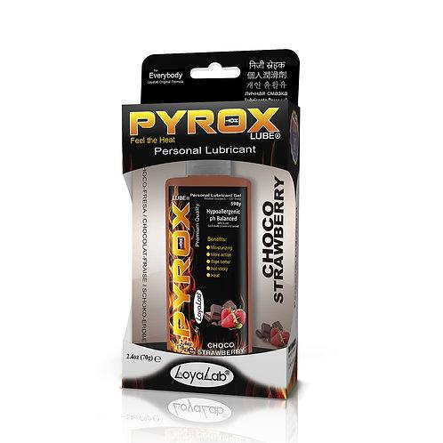 Gel Lubricante Intimo Efecto Calor, Pyrox Lube de Choco Fresa 70 g