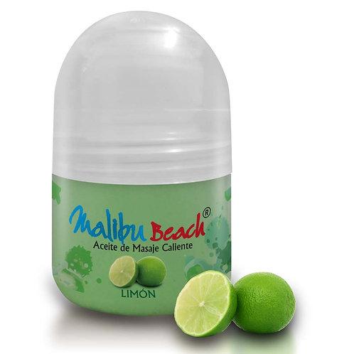 Aceite Caliente para Masajes MalibuBeach Hot de Limón 30 g