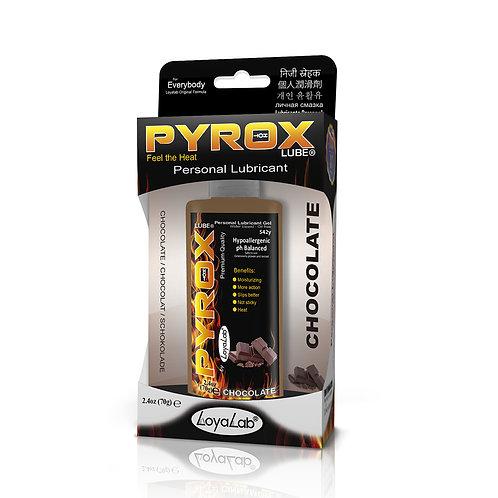 Gel Lubricante Intimo Efecto Calor, Pyrox Lube de Chocolate 70 g