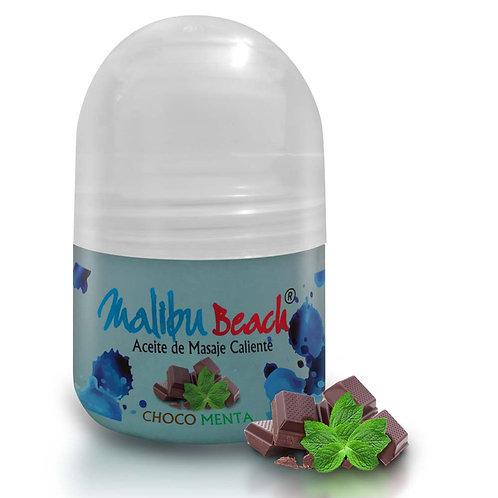 Aceite Caliente para Masajes MalibuBeach Hot de Choco Menta 30 g