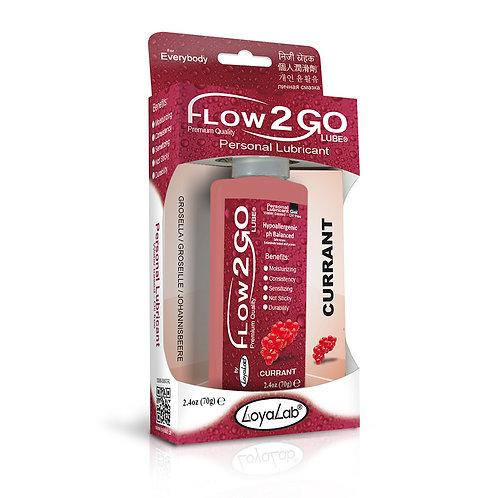 Gel Lubricante Intimo Premium Base Agua, Flow2GO Lube de Grosella 70 g