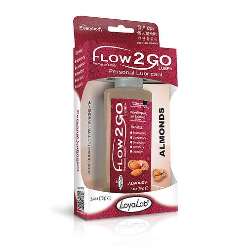 Gel Lubricante Intimo Premium Base Agua, Flow2GO Lube de Almendras 70 g