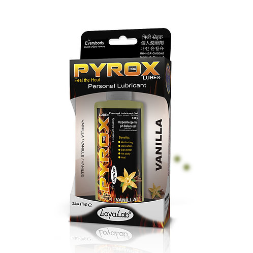 Gel Lubricante Intimo Efecto Calor, Pyrox Lube de Vainilla 70 g