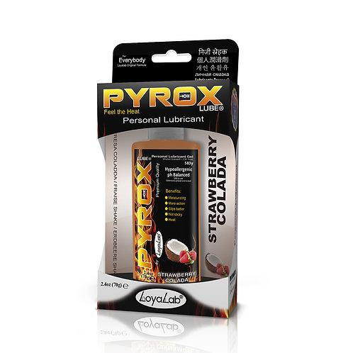 Gel Lubricante Intimo Efecto Calor, Pyrox Lube de Fresa Colada 70 g
