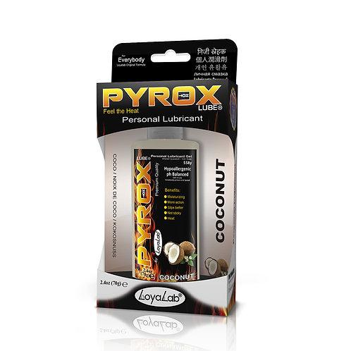 Gel Lubricante Intimo Efecto Calor, Pyrox Lube de Coco 70 g