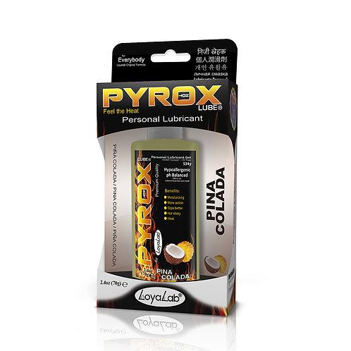Gel Lubricante Intimo Efecto Calor, Pyrox Lube de Piña Colada 70 g